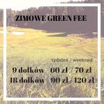 Zimowe Green Fee