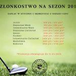 Członkostwo Przytok Golf & Resort na sezon 2019