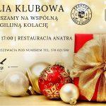 Wigilia Klubowa 22 grudnia 2018